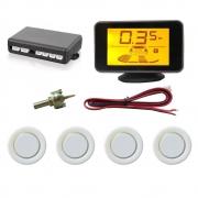 """Sensor de Estacionamento Hurricane com Display de LED 4,3"""" - 4 Sensores - Branco"""