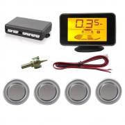 """Sensor de Estacionamento Hurricane com Display de LED 4,3"""" - 4 Sensores - Prata"""