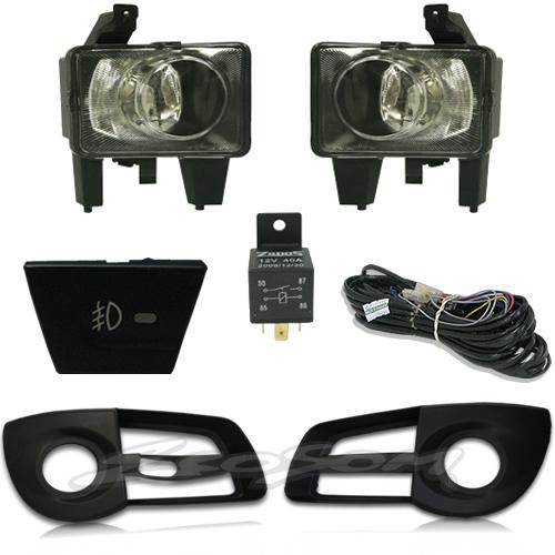 Kit Farol de Milha Neblina Chevrolet Nova Montana 2011 2012 2013 2014 2015 2016 2017 - Interruptor Original + Molduras + Kit Xenon H3 Com Reator Digital -  6000K ou 8000K