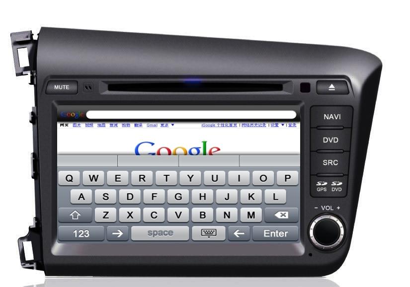 Central Multimídia Honda Civic 2015 2016 - PRETO - Com DVD GPS Mapa Bluetooth MP3 USB Ipod SD Card Câmera Ré Grátis - Winca