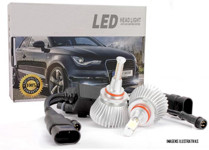 Kit Lâmpada Super LED Headlight H4 6000K 12V e 24V 32W 2200LM Efeito Xenon