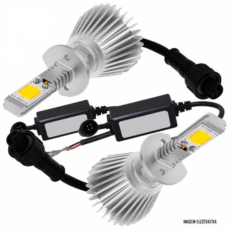 Kit Lâmpada Super LED Headlight H7 6000K 12V e 24V 32W 2200LM Efeito Xenon