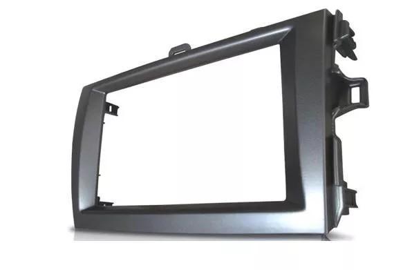 Moldura De Painel 2 Din Toyota Corolla 2009 á 2013 Para CD DVD 2 Dins - Padrão Original + Conector + Interface volante + Câmera de Ré