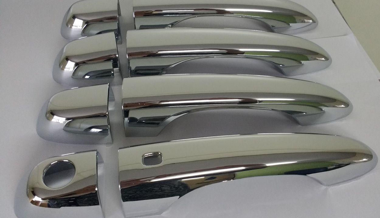Aplique Maçaneta Cromado Com Furo Keyless Fiat Toro 4 Peças