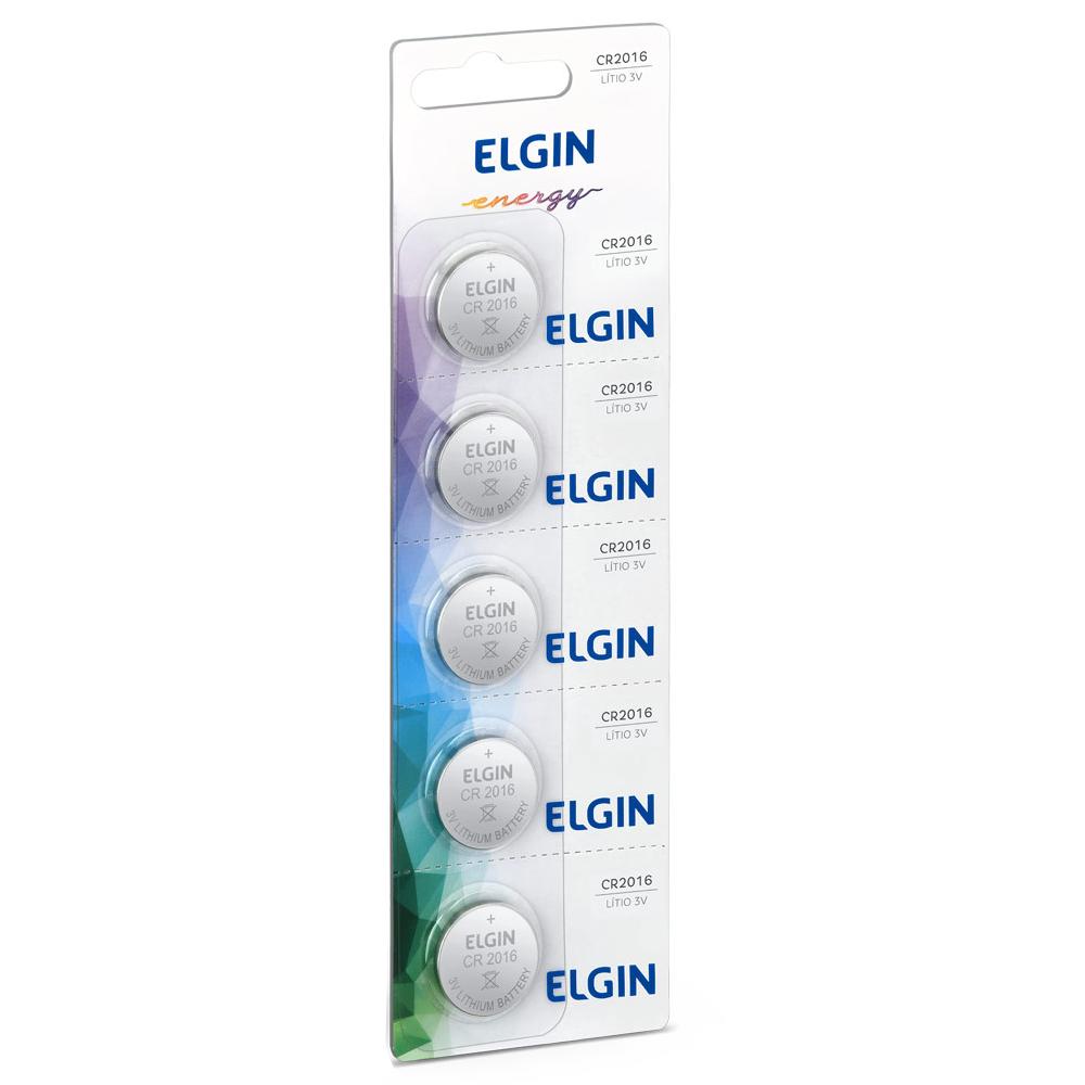 Bateria de Lithium Elgin CR2016 5 Unidades