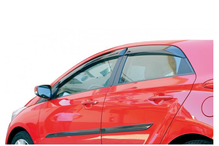 Calha de Chuva Hyundai HB20 Hatch 2012 2013 2014 2015 2016 2017 2018 - 4 Portas - Original + Primer Aderente