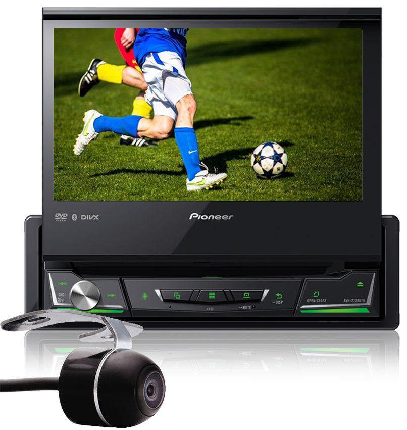 DVD Player Automotivo Retrátil Pioneer AVH-Z7280TV Tela 7 Polegadas Com TV Digital Bluetooth USB + Câmera de Ré