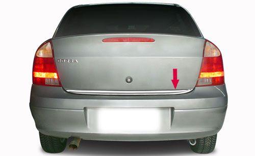 Friso Cromado Resinado Traseiro Porta Malas Chevrolet Corsa Sedan 2003 2004 2005 2006 2007 2008 2009 2010 2010 2011 2012 2013