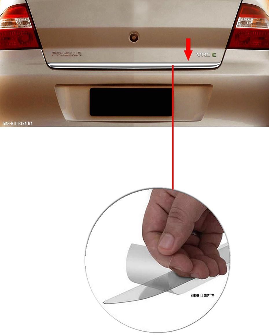 Friso Cromado Resinado Traseiro Porta Malas Chevrolet Prisma 2007 2008 2009 2010 2011 2012