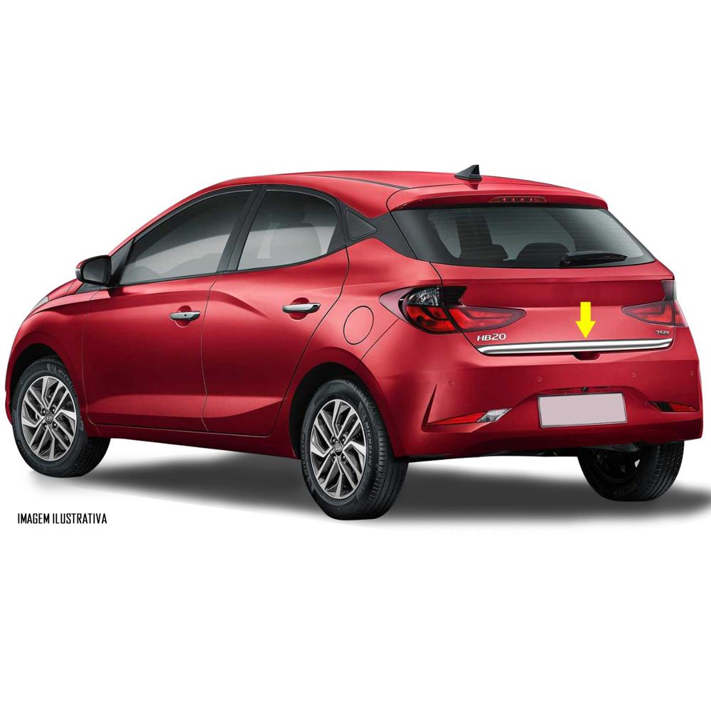 Friso Cromado Resinado Traseiro Porta Malas Hyundai HB20 2020 2021 2022