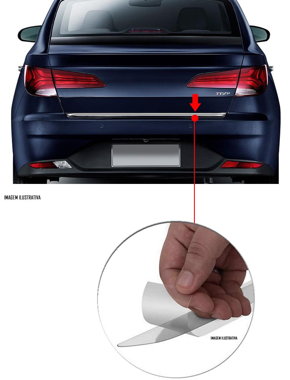 Friso Cromado Resinado Traseiro Porta Malas Hyundai HB20S 2020 2021 2022