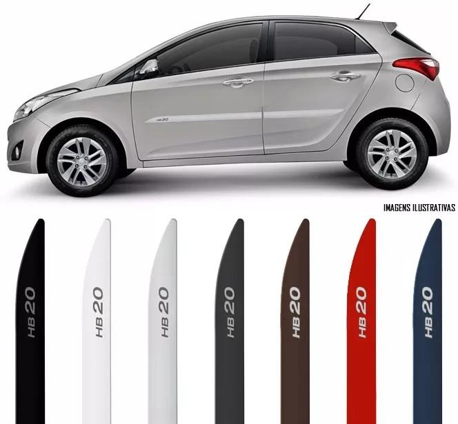 Jogo Friso Lateral Pintado Hyundai HB20 2012 2013 2014 2015 2016 2017 2018 - Cor Original - Facão