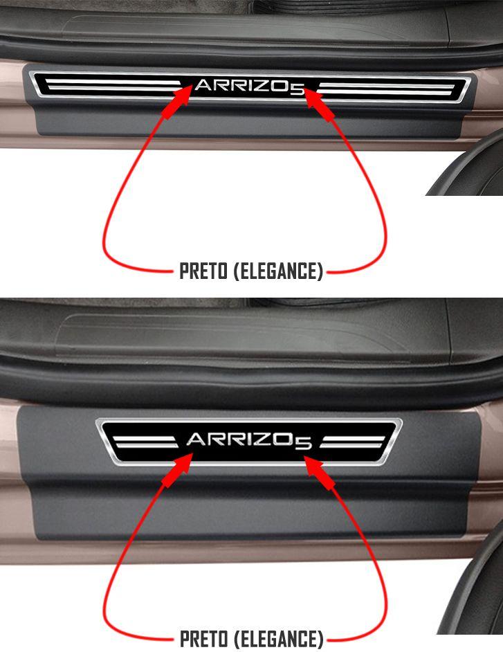 Jogo Soleira Premium Elegance Chery Arrizo 5 - 4 Portas ( Vinil + Resinada 8 Peças )