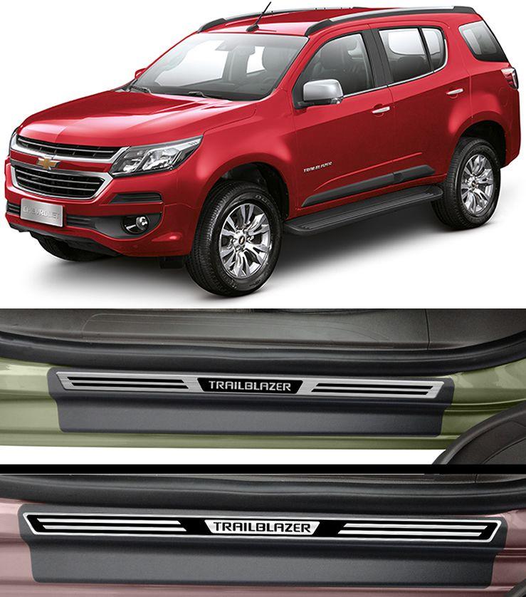 Jogo Soleira Premium Elegance Chevrolet Trailblazer - 4 Portas ( Vinil + Resinada 8 Peças )