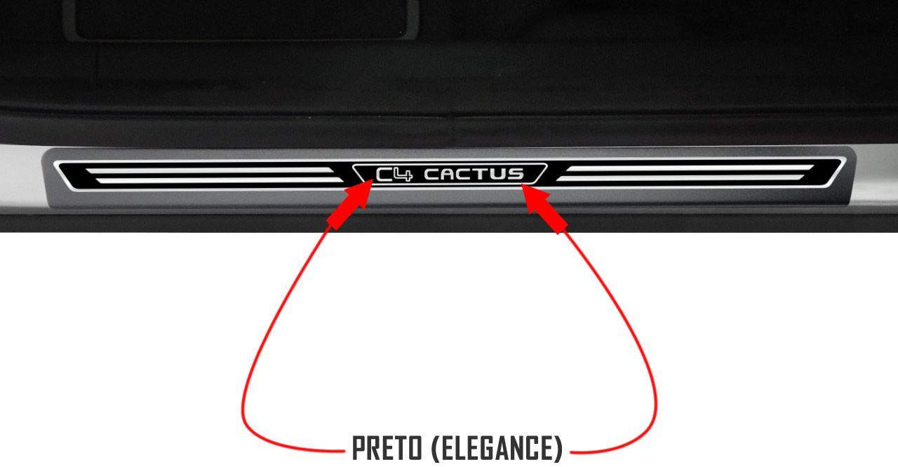 Jogo Soleira Premium Elegance Citroen C4 Cactus - 4 Portas ( Vinil + Resinada 8 Peças )