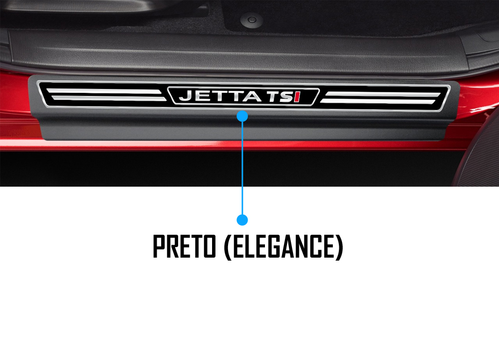 Jogo Soleira Premium Elegance Vw Jetta TSI Todos os Anos - 4 Portas ( Vinil + Resinada 8 Peças )