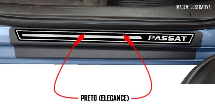 Jogo Soleira Premium Elegance Vw Passat 2018 2019 2020 2021 2022 - 4 Portas ( Vinil + Resinada 12 Peças )