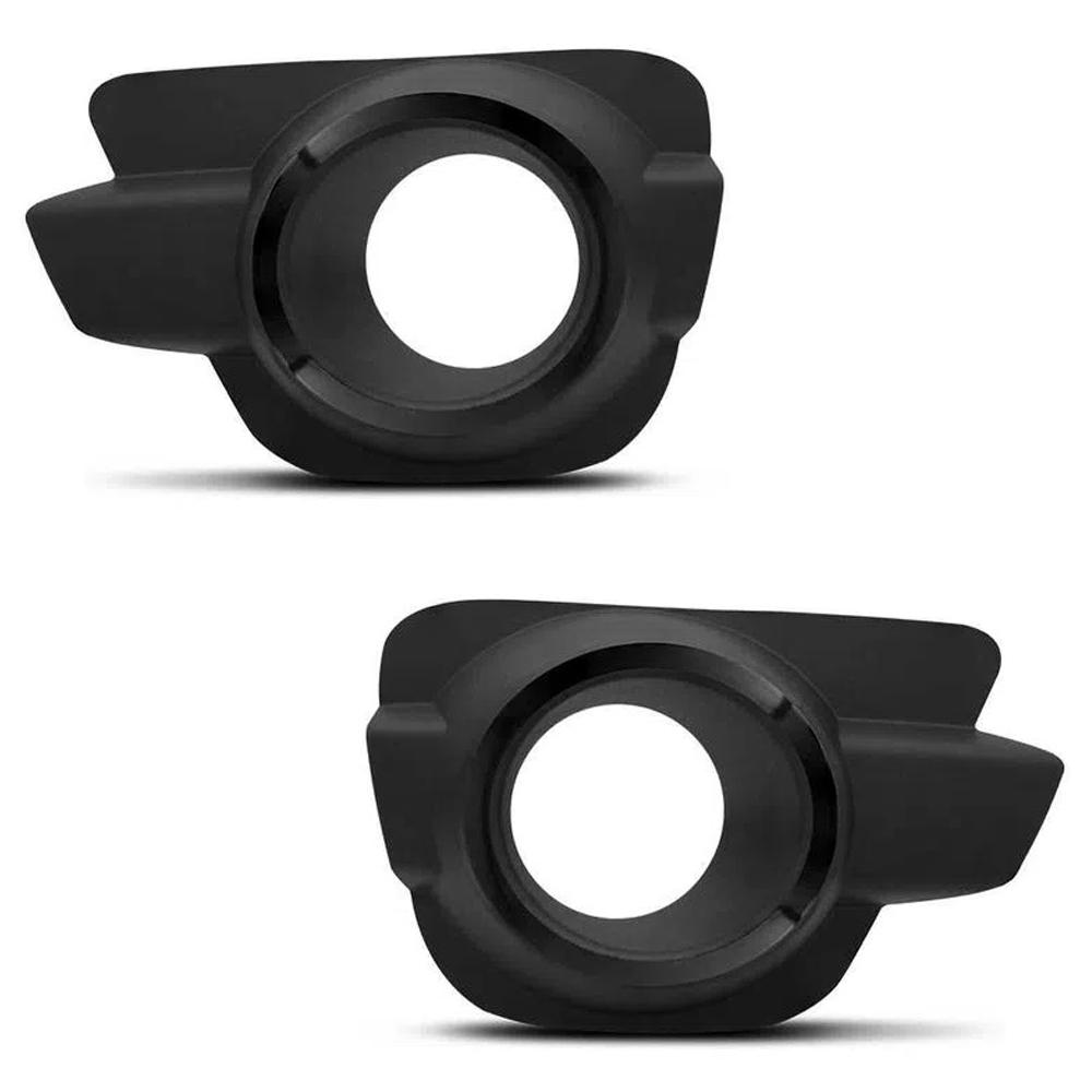 Kit Farol de Milha Neblina Renault Kwid Todos - Interruptor Alternativo + Molduras