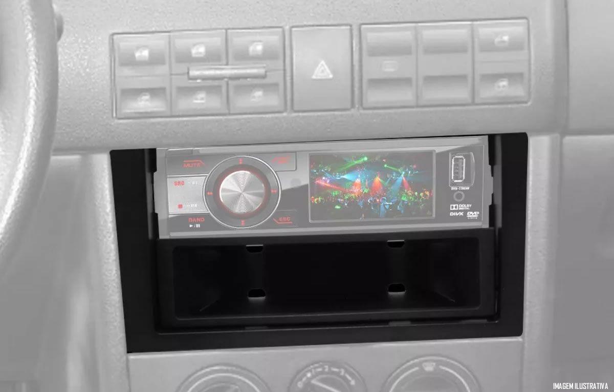 Moldura De Painel 1 Din Vw Gol G3  + Porta Objeto - Para CD / MP3 DVD Retrátil