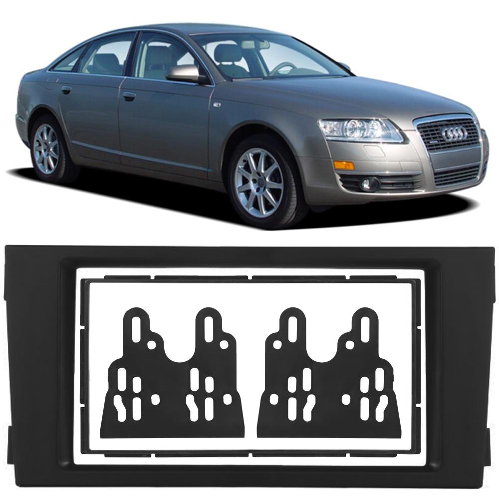 """Moldura de Painel 2 Din 7"""" Polegadas Audi A6 2002 2003 2004 2005 2006"""