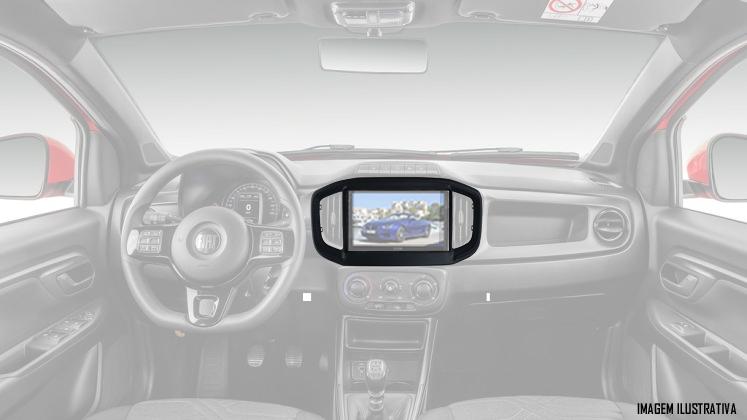 """Moldura De Painel 2 Din 9"""" Polegadas Fiat Strada 2020 2021 - Preto"""