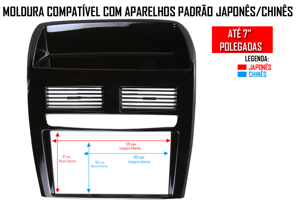 Moldura De Painel 2 Din Fiat Linea 2008 2009 2010 2011 2012 2013 2014 - Black Piano