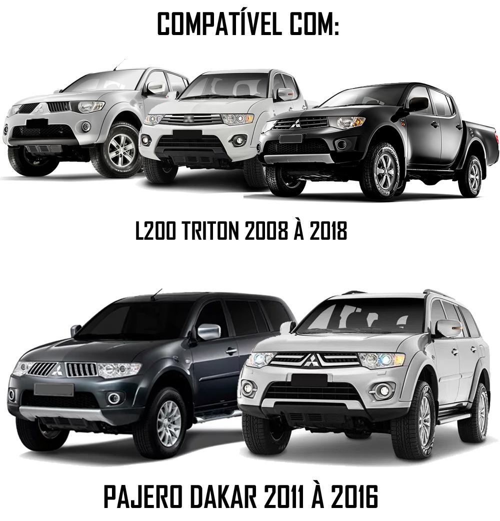 Moldura De Painel 2 Din Mitsubishi L200 Triton 2008 à 2018 Pajero Dakar 2011 à 2016