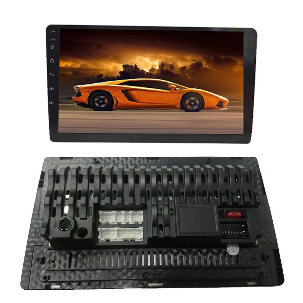 """Multimídia 9"""" Polegadas Nova Strada 2020 2021 2022 Espelhamento USB Bluetooth + Chicotes + Interface Volante + Moldura Painel Black Piano + Câmera de Ré"""