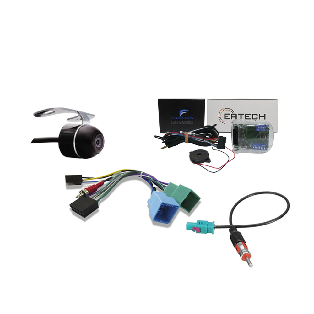 """Multimídia 9"""" Polegadas Nova Strada 2020 2021 2022 Espelhamento USB Bluetooth + Chicotes + Interface Volante + Moldura Painel Preto + Câmera de Ré"""