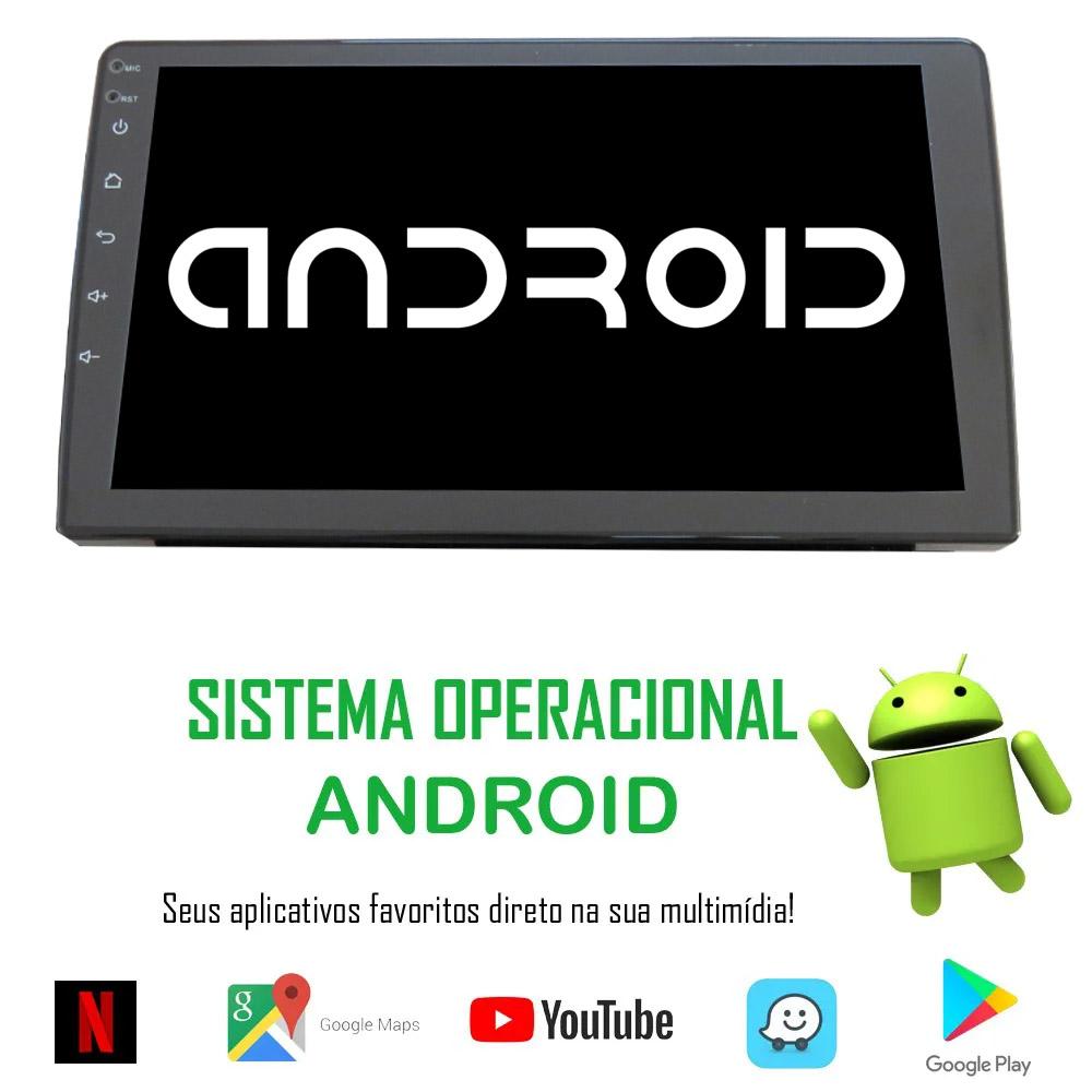"""Multimídia Android H-Tech HT-9220SC 9"""" Polegadas com Câmera de Ré"""