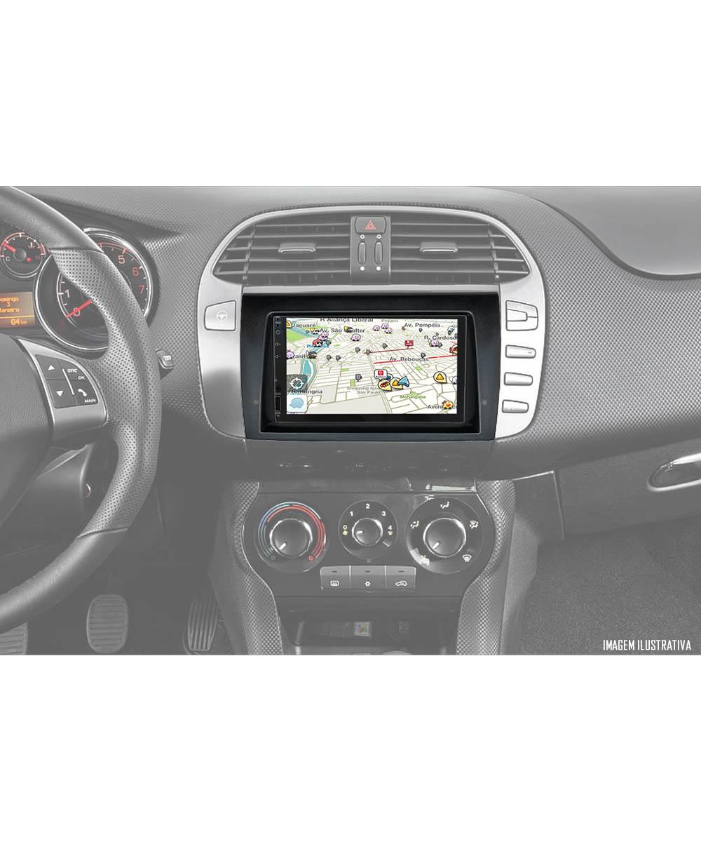 Multimídia Fiat Bravo Espelhamento Bluetooth USB SD Card + Moldura + Câmera Borboleta