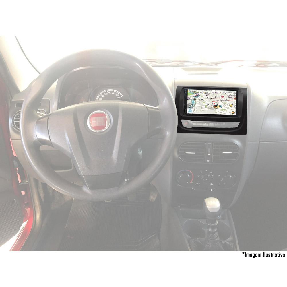 Multimídia Fiat Palio Weekend Strada Siena EL 2012 2013 2014 2015 2016 2017 2018 2019 2020 Espelhamento Bluetooth USB SD Card + Moldura + Câmera Borboleta