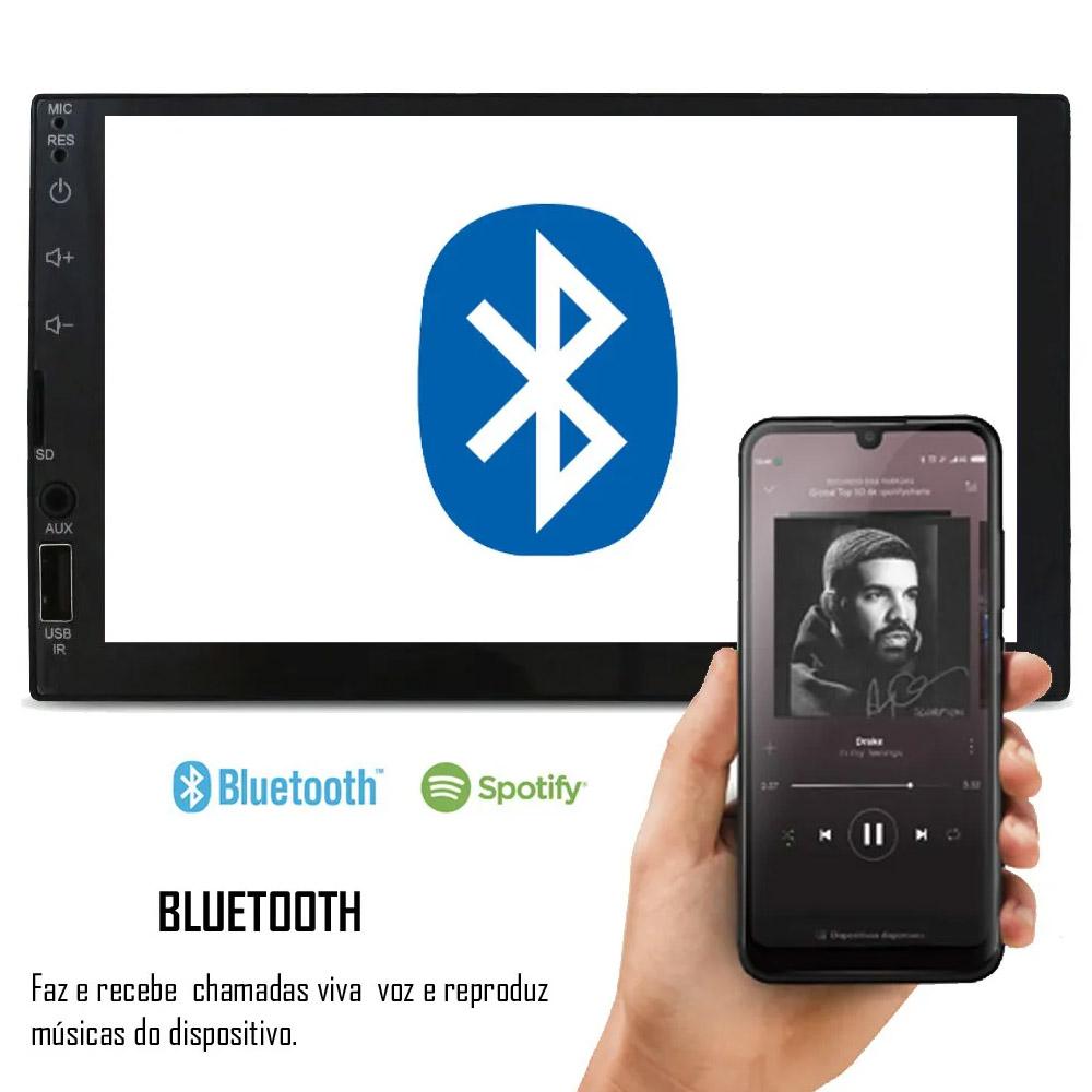 Multimídia Fiat Uno 2012 2013 2014 2015 Espelhamento Bluetooth USB SD Card + Moldura + Câmera Borboleta