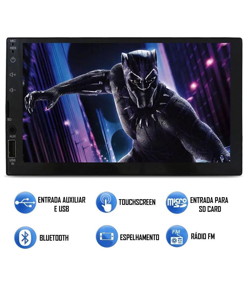 Multimídia GM Blazer S10 1995 2000 Espelhamento Bluetooth USB SD Card + Moldura + Câmera Borboleta