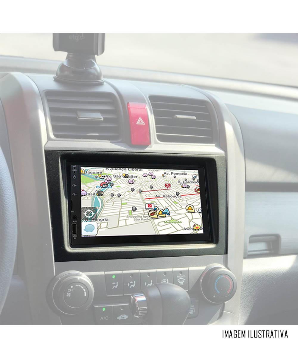 Multimídia Honda CRV 2007 2008 2009 2010 2011 Espelhamento Bluetooth USB SD Card + Moldura + Câmera Borboleta + Chicote + Adaptador de Antena