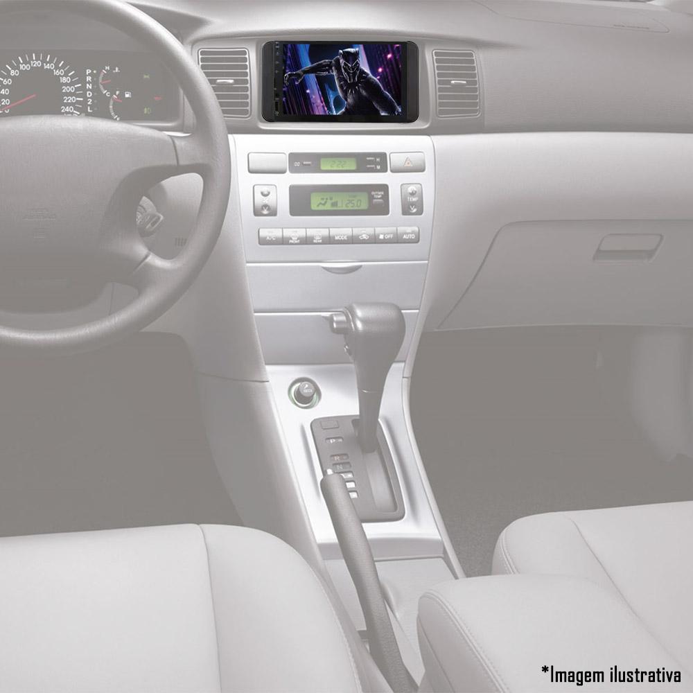 Multimídia Toyota Etios Hatch Sedan Corolla 2003 á 2007 com Espelhamento Bluetooth USB SD Card + Moldura + Câmera Borboleta + Adaptador de Antena + Chicotes