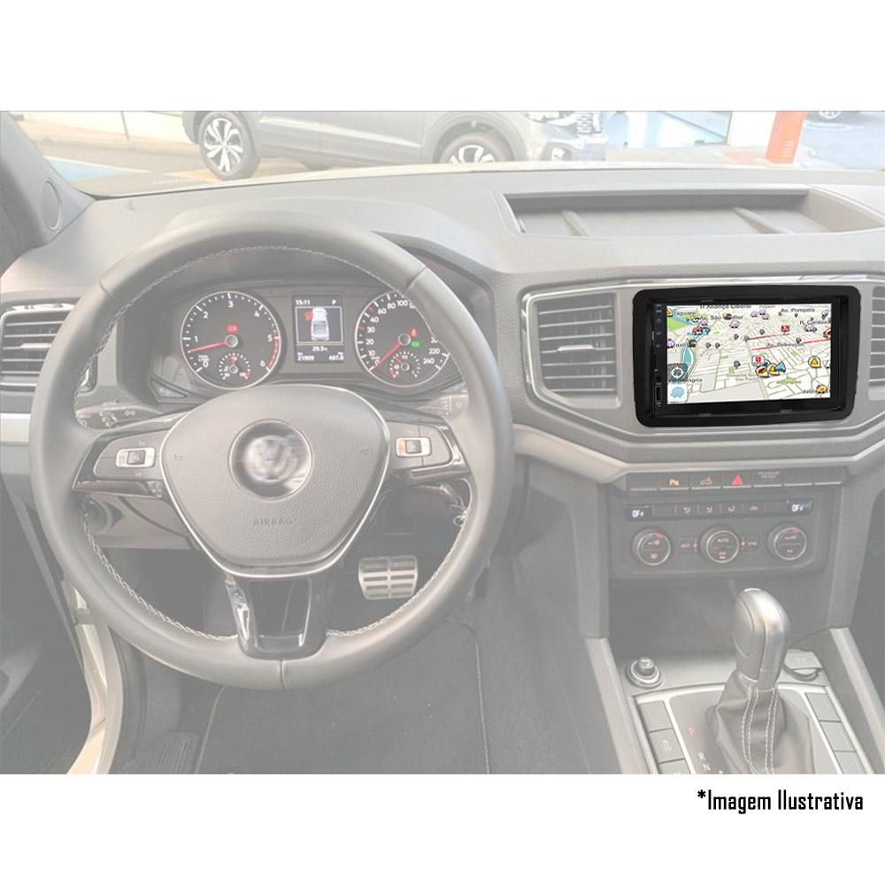 Multimídia VW Amarok Espelhamento Bluetooth USB SD Card + Moldura + Câmera Borboleta + Adaptador de Antena + Chicotes