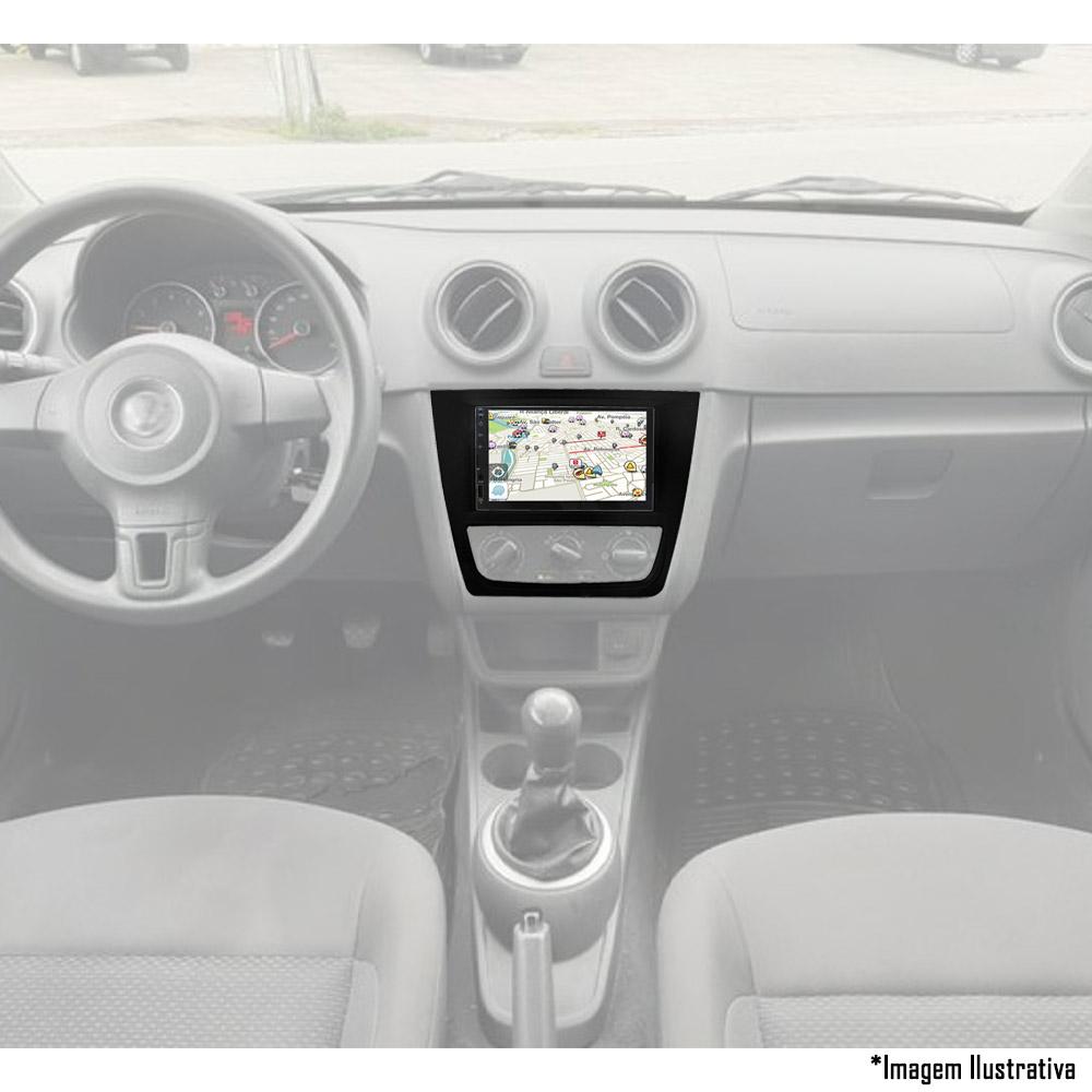 Multimídia VW Gol Saveiro Voyage G6 2013 2014 2015 2016 Espelhamento Bluetooth USB SD Card + Moldura + Câmera Borboleta