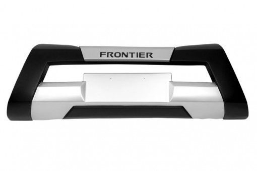 Overbumper Frontal NISSAN FRONTIER 13/16 (PRETO C/ PRATA-ALUMINIUM)