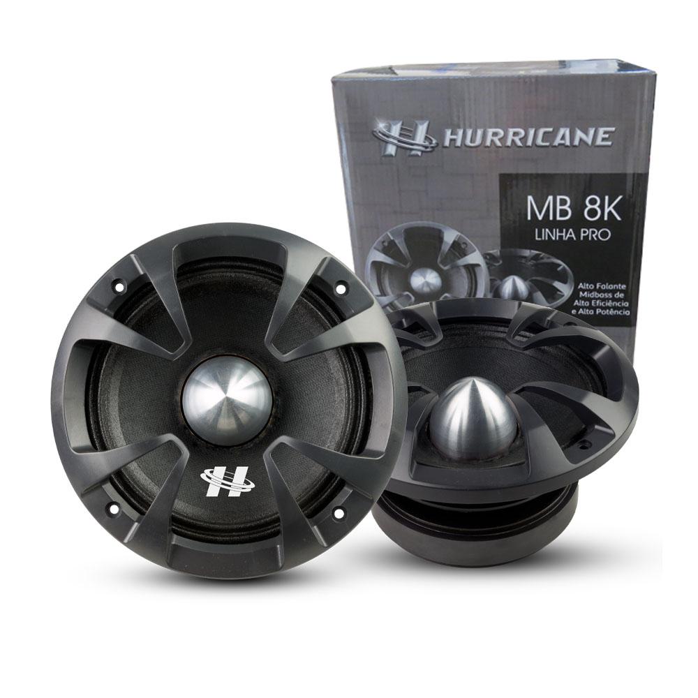 Par Alto Falante MidBass Hurricane Pro MB 8K 800W 4 OHMS