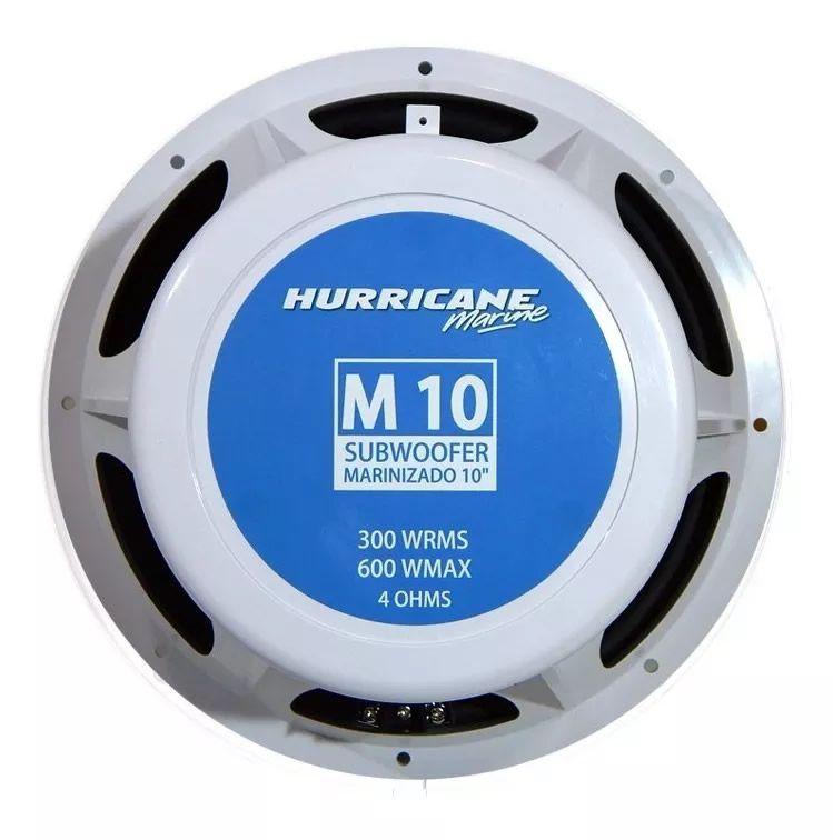 """Subwoofer Náutico Hurricane Marinizado M 10 10"""" Polegadas"""