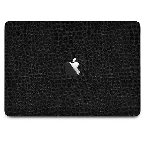 Skin Estampa Couro Preto Macbook Pro15 Touch Bar Atual 2016