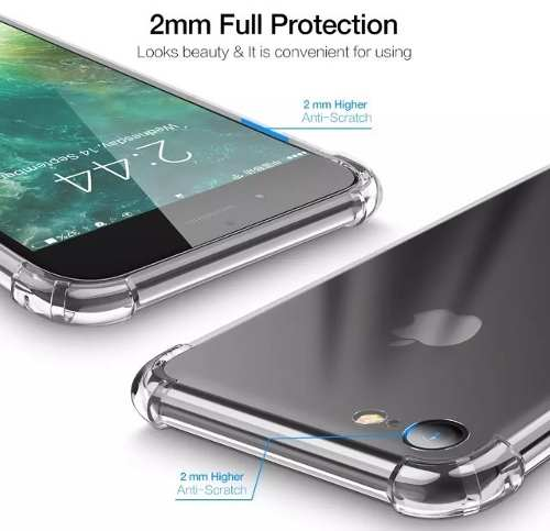 Case Anti - Impacto Silicone Maleável Transparente Iphone 7