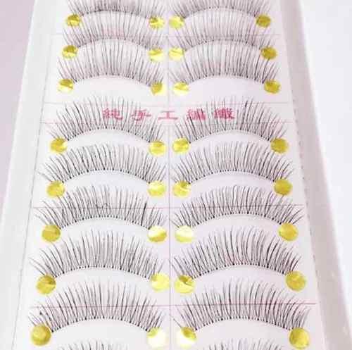 Cílios Postiços Caixa Com 10 Pares Cílios Longos Pretos