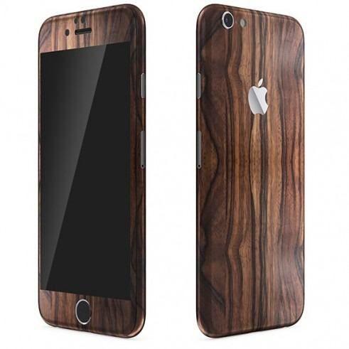 Skin Premium - Estampa Madeira Escura - Iphone 6s
