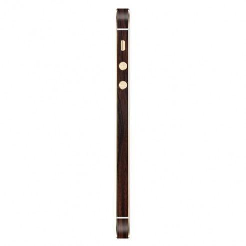 Skin Premium - Adesivo Estampa De Madeira Escura - Iphone Se /5s/5