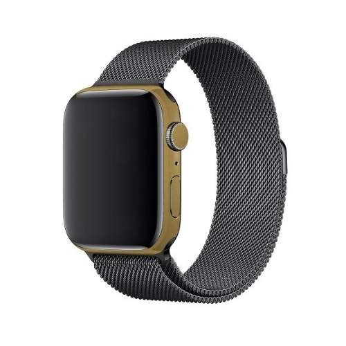 Adesivo Skin Estampa Aço Escovado Apple Watch Serie 4 44mm