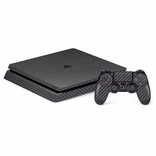 Adesivo Fibra De Carbono Para Sony Ps4 Slim