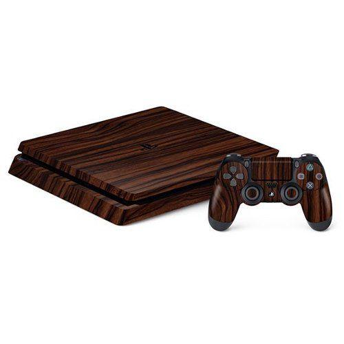 Adesivo Premium - Estampa De Madeira Sony Playstation Slim 4