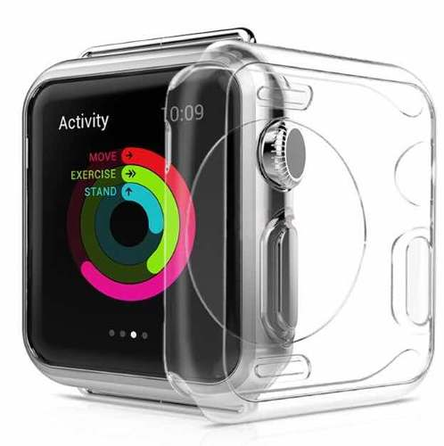 Capa Bumper Silicone Maleável Apple Watch Transparente 42mm